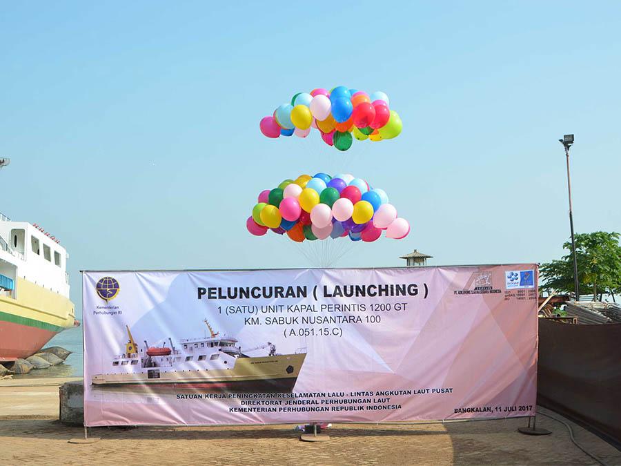 Peluncuran KM. Sabuk Nusantara 100